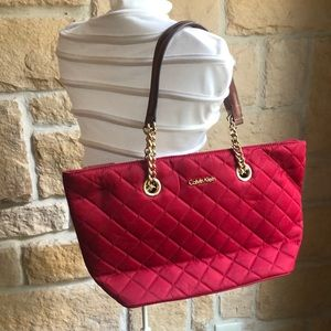 Calvin Klein quilted fabric purse